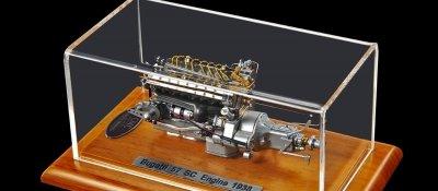 CMC Bugatti Type 57 SC Engine with Showcase