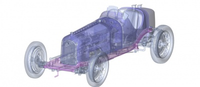 Alfa P3 3d Konstruktionsbild